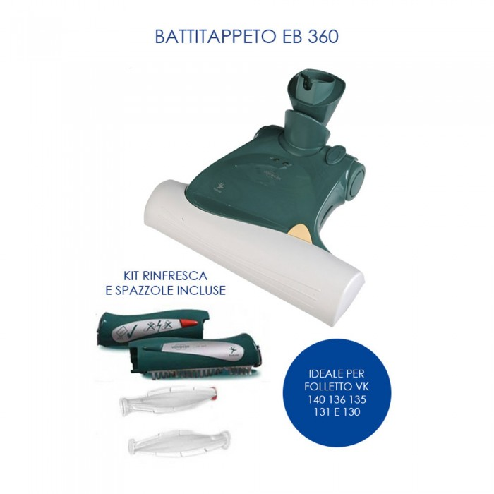 Battitappeto eb360 per folletto vk150 140 136 135 131 130 - Aspirapolvere folletto vk 140 ...
