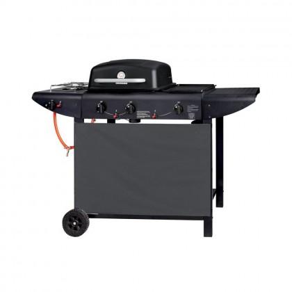 Barbecue A Gas 3 Bruciatori + Fornello Laterale Con Sistema Roccia Pietra Lavica Imperial Barbecue ER8206C-1 C