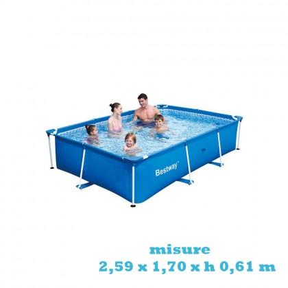 Piscina Bestway SPLASH FRAME 56403  2,59 x1,70 xh 0,61 m