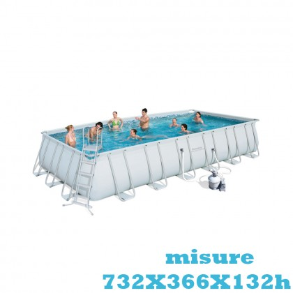 Piscina fuori terra Bestway POWER STEEL FRAME 7,32 x 3,66 x h.1,32 m 56475