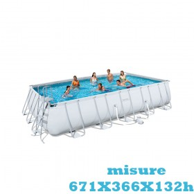 Piscina fuori terra Bestway POWER STEEL FRAME 6,71 x3,66 xh.1,32 m  56278