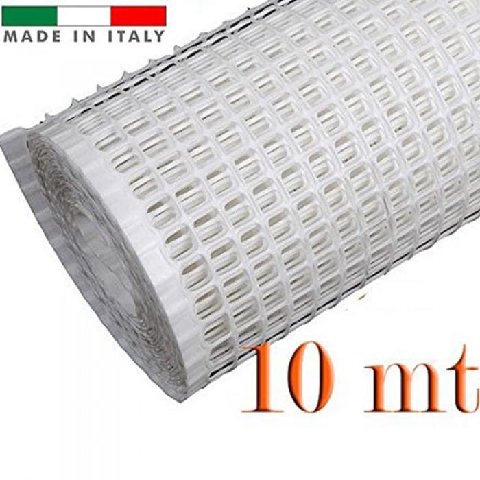Rete Plastica Da Balcone.Rete Per Balconi Bianca Mm 10x10 H 100 Rotolo Da Mt 10