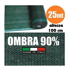 Rete Ombreggiante Frangivista Verde Rotolo 25 mt H 100 cm
