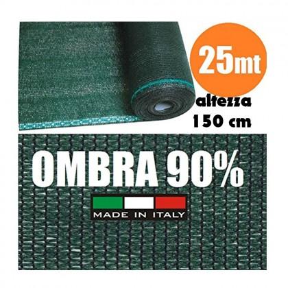 Rete Ombreggiante Frangivista Verde Rotolo 25 mt H 150cm