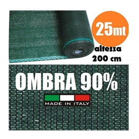 Rete Ombreggiante Frangivista Verde Rotolo 25 mt H 200 cm