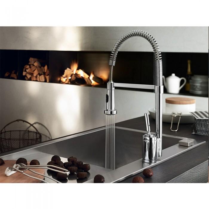 Rubinetto cucina miscelatore cucina nobili billy con for Bricoman rubinetti cucina